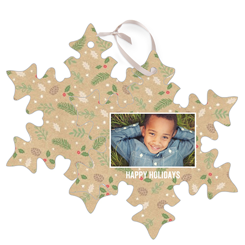 Holiday Memory Metal Ornament, Multicolor, Snowflake