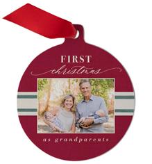 first christmas ribbon metal ornament