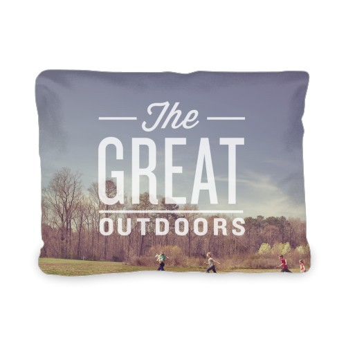 The Great Outdoors Outdoor Pillow, Pillow (Black), 12 x 16, Single-sided, White