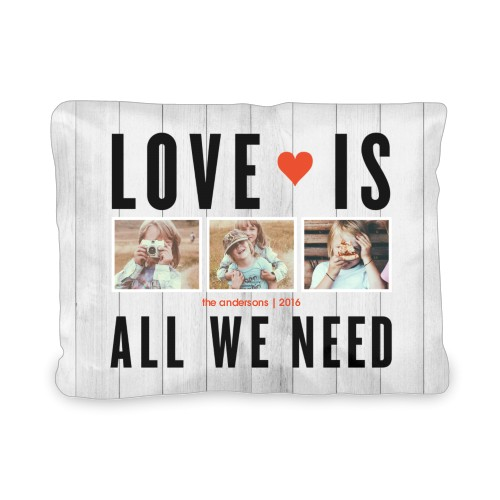 Love Is All We Need Outdoor Pillow, Pillow (Ivory), 12 x 16, Single-sided, Grey