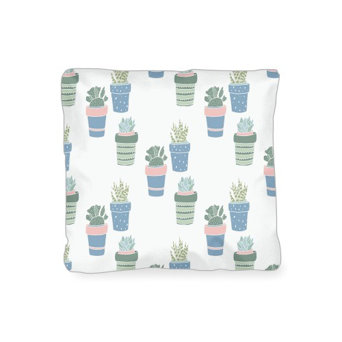Multi Succulent Outdoor Pillow, Pillow, 16 x 16, Double-sided, Multicolor