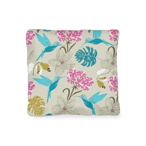 Hummingbird Outdoor Pillow