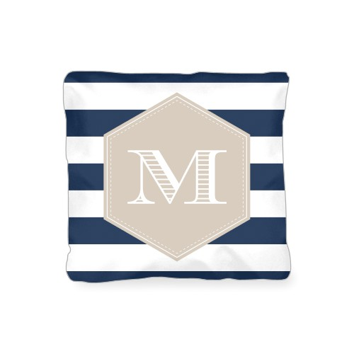 Deco Stripes Outdoor Pillow, Pillow, 16 x 16, Double-sided, Blue