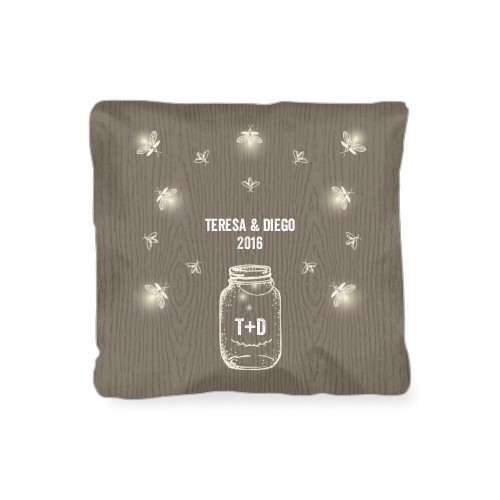 Forever Fireflies Outdoor Pillow, Pillow (Navy), 16 x 16, Single-sided, Brown