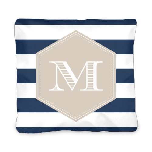 Deco Stripes Outdoor Pillow, Pillow (Taupe), 20 x 20, Single-sided, DynamicColor