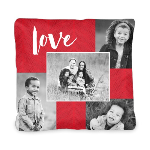 Love Texture Collage Outdoor Pillow, Pillow (Ivory), 20 x 20, Single-sided, DynamicColor