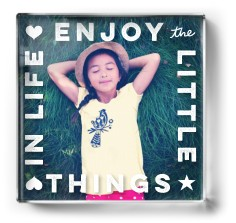 enjoy little things paper weight