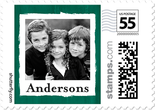 Brushed Border Frame Personalized Postage Stamps