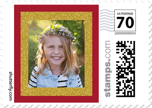 Shimmer Frame Personalized Postage Stamps