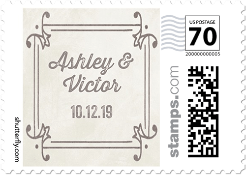 Chalk Splendor Personalized Postage Stamps By Éclair Paper