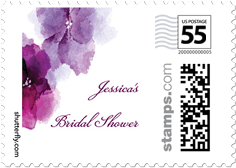 Softly Gowned Personalized Postage Stamps Stamp