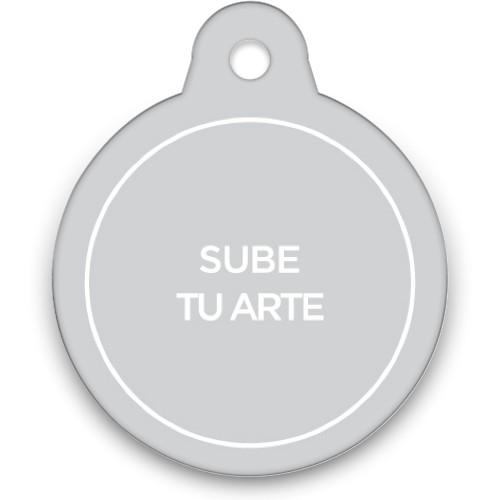 Sube Tu Arte Circle Pet Tag, Multicolor