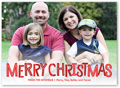 Shades Of Merry Christmas Card