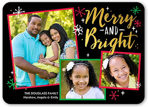 Merry Bright Flurries Christmas Card