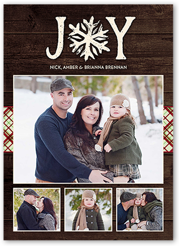 Enchanting Joyous Snowflake Christmas Card