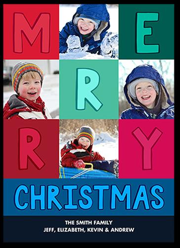 Merry Grid Christmas Card