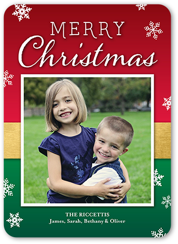 Warm Festive Wishes Christmas Card, Square