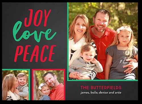 Joyous Peace Christmas Card, Square Corners