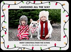 laughing lights christmas card