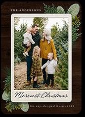 pine frame christmas card