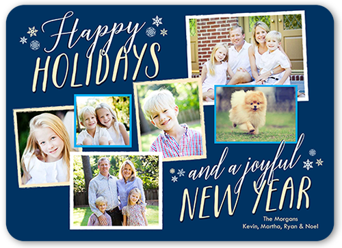 Snowflake Hues Holiday Card