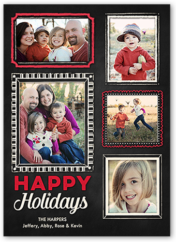 Cheerful Frames Holiday Card