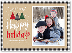 merrily modern holiday card