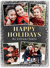 frosted winter frames holiday card