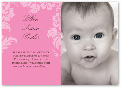 Floret Rose Birth Announcement