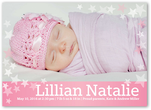 Many Stars Girl Birth Announcement