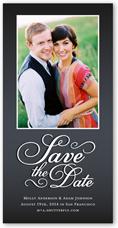 sweet romance save the date 4x8 photo