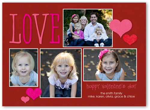 Giving Our Love Valentine's Card, Square Corners
