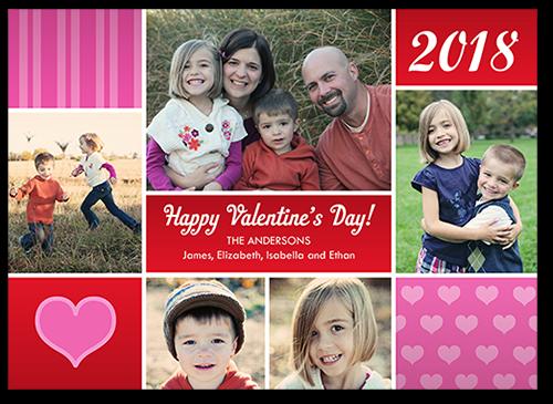 Fun Blocks Valentine's Card, Square Corners
