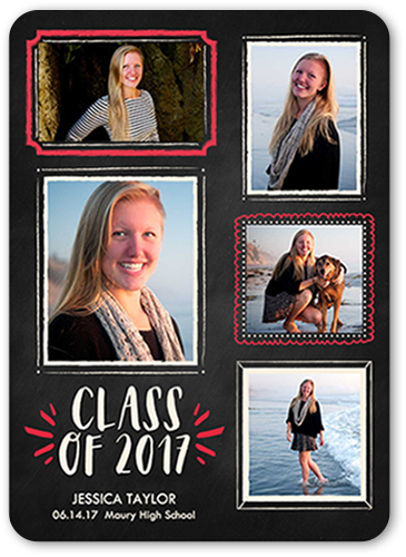 Chalk Frames Grad Graduation Card