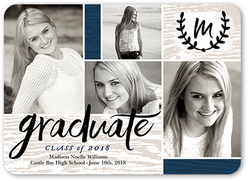 Graduate Monogram Graduation Card