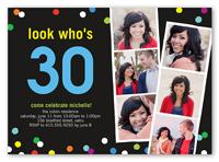 confetti filmstrip birthday invitation 5x7 photo