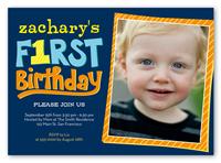 year of firsts birthday invitation 5x7 photo
