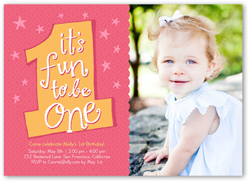 The First Year Girl 5x7 Photo Girl 1st Birthday Invitations – Toddler Girl Birthday Invitations