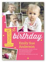 its my first girl birthday invitation 5x7 photo