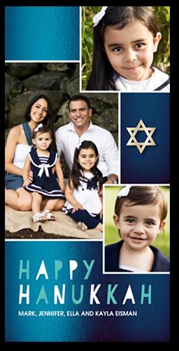 Shimmering Star Hanukkah Card, Square