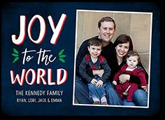 our joyful world religious christmas card 5x7 photo