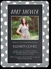 chalkboard dots baby shower invitation 5x7 photo