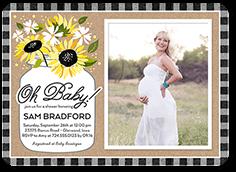 sunflower celebration baby shower invitation