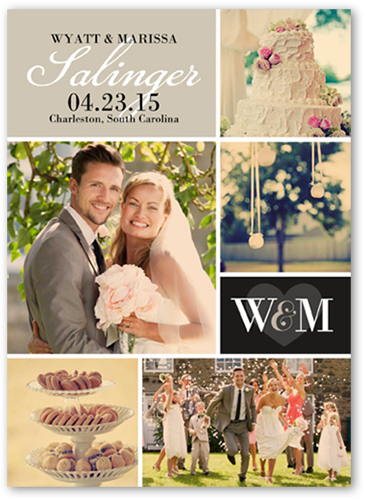 Loving Initials Wedding Announcement