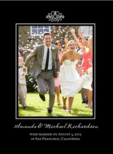 Favorite Flourish Wedding Announcement