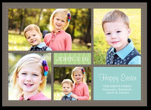 Easter Splendor Easter Card, Square Corners