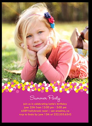Pink Confetti Summer Photo Card