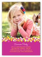 pink confetti summer photo card 5x7 photo