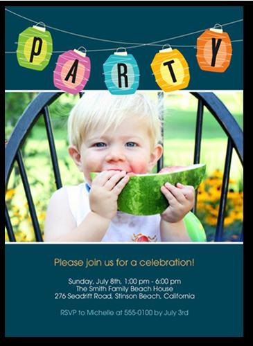 Bright Paper Lanterns Summer Invitation