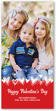 hearts aflutter valentines card 4x8 photo